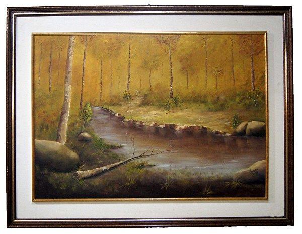 Quadro Pintura a Óleo Natureza - Ivany 1986