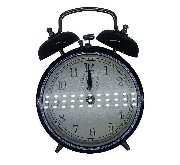 Relógio De Mesa Vintage com Despertador