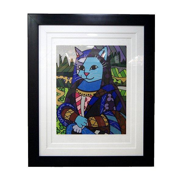 Quadro Gravura Mona Cat - Romero Britto 6/300