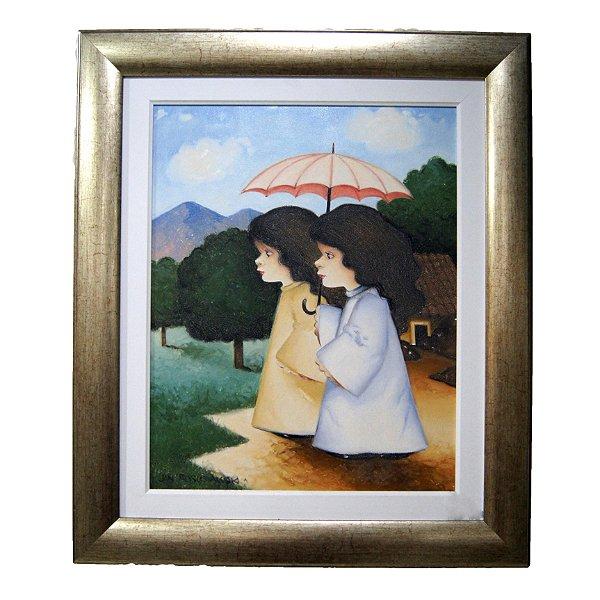 Quadro Pintura a Óleo Amigas - Jan Boguslawski 2004