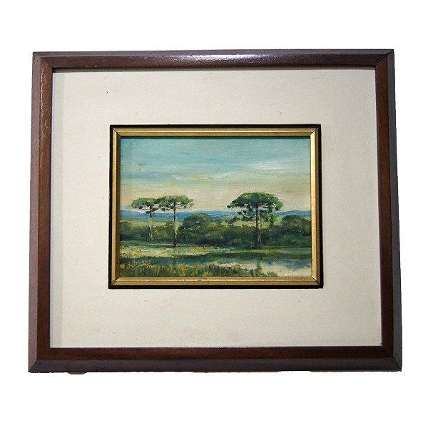 Quadro Pintura a Óleo R. Hammes 88 33x37cm