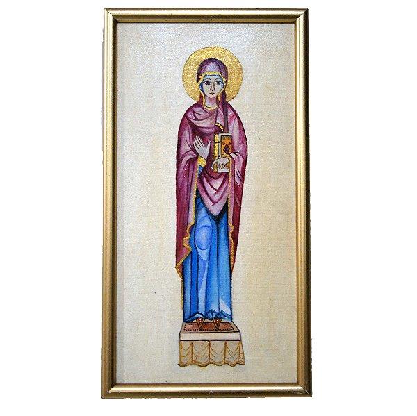Quadro Pintura a Óleo Santa 42x22cm