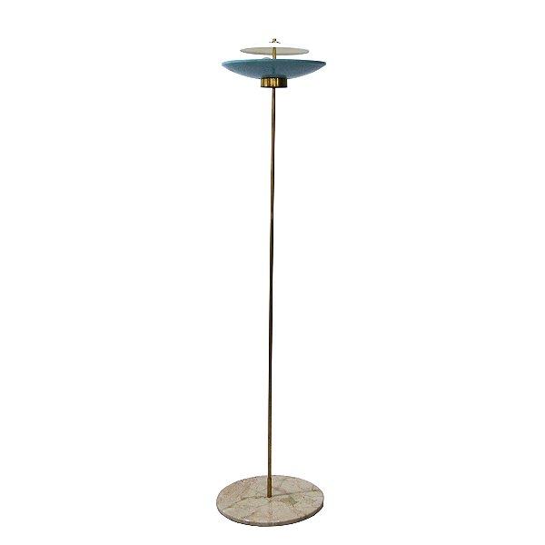 Luminária de Piso Estilo Disco Voador Década 50
