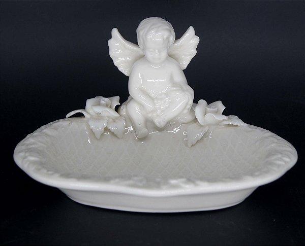 Saboneteira em Porcelana Com Anjinho