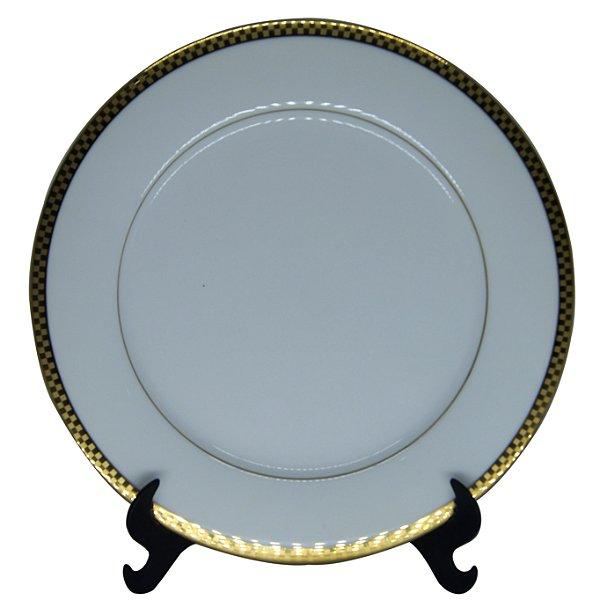 Prato Raso em Porcelana Noritake em Ouro