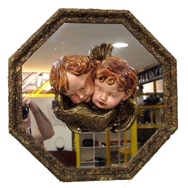 Espelho Decorativo Anjos Querubins