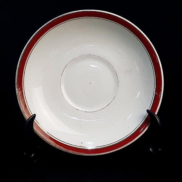 Pires em Porcelana Maua Filete Vermelho