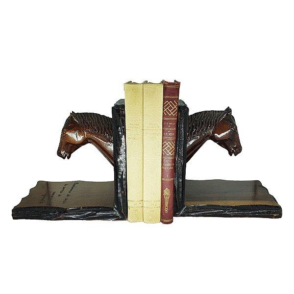 Suporte para Livros de Cavalos em Madeira
