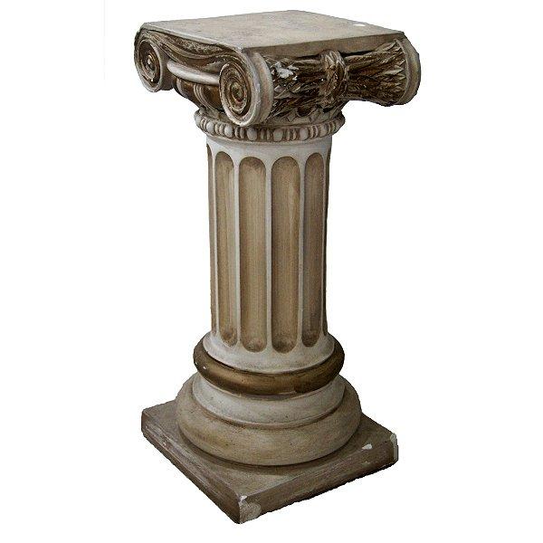 Coluna Em Gesso Estilo Grego Ordem Jônica 60cm