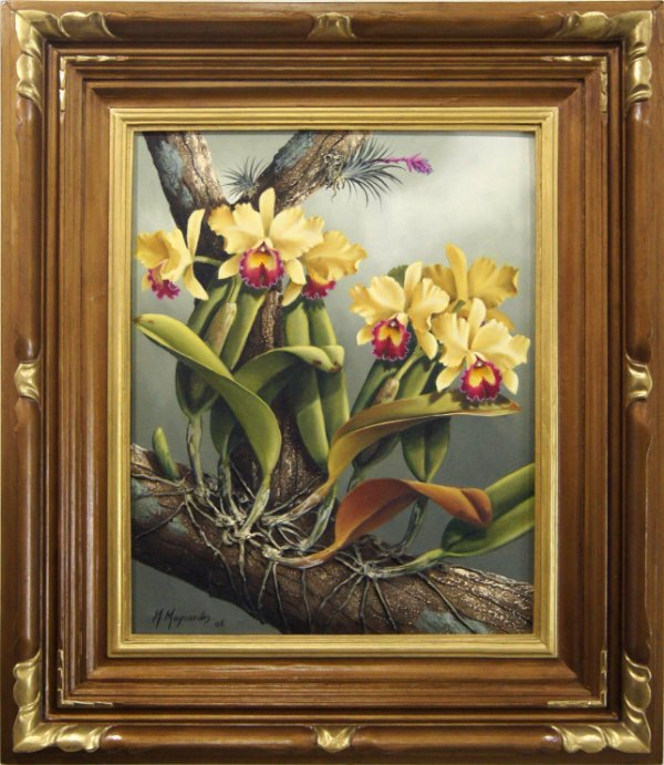 Quadro Pintura a Óleo Flor na Arvore - M.Maynardes