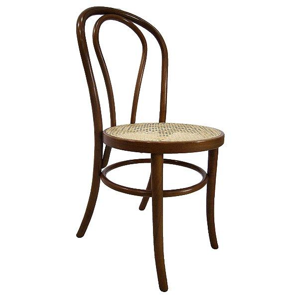 Conjunto 4 Cadeiras Austríacas Em Madeira e Palhinha