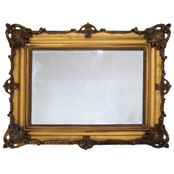 Espelho De Parede Estilo Vitoriano Bisotado