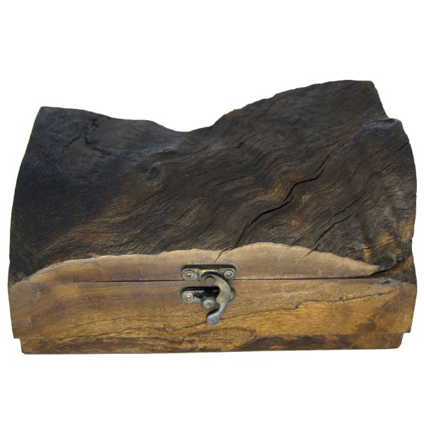 Porta Joias em Madeira Maciça de Imbuia Década 70