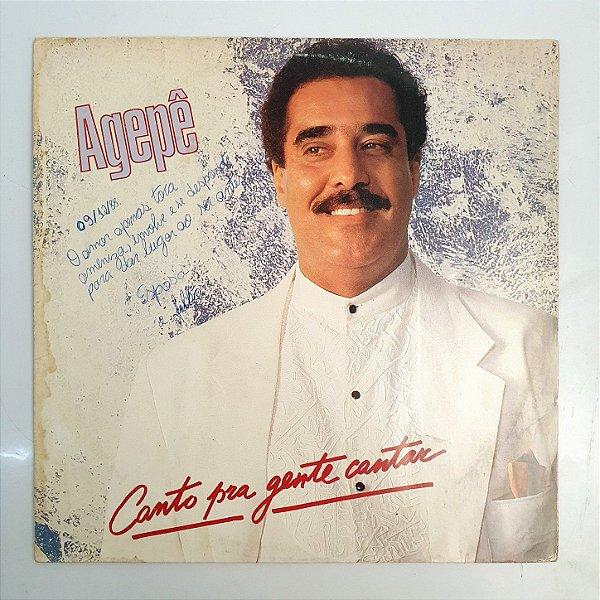 Disco de Vinil - Agepê - Canto pra Gente Cantar