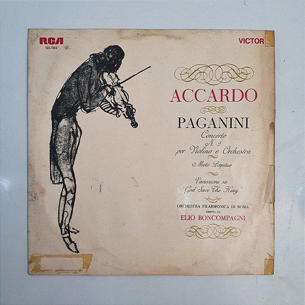 Disco de Vinil - Accardo Paganini - Concerto n 2