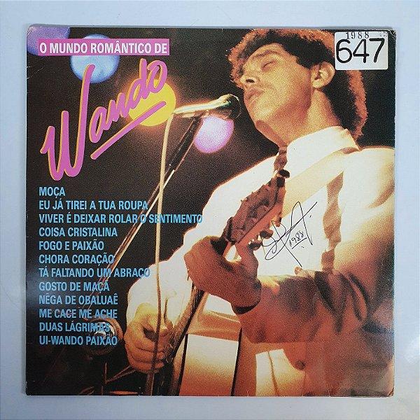 Disco de Vinil - Wando - O Mundo Romântico - 1988