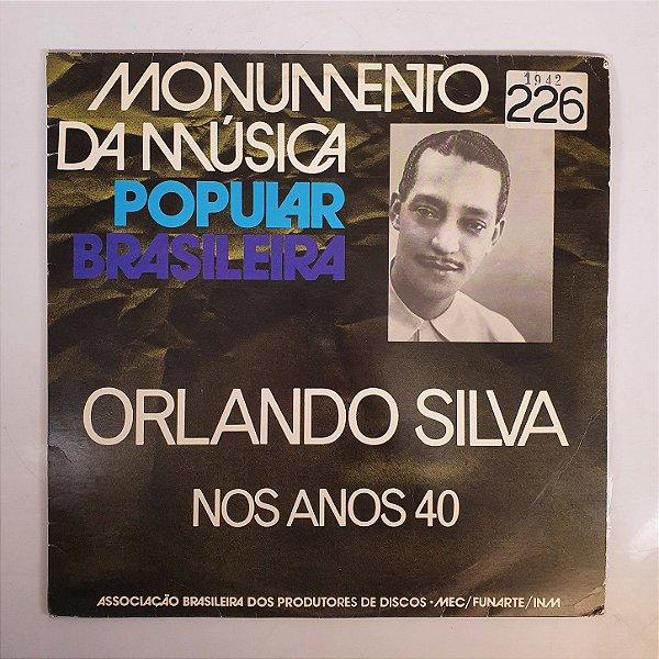 Disco de Vinil - Orlando Silva - Anos 40 - 1942