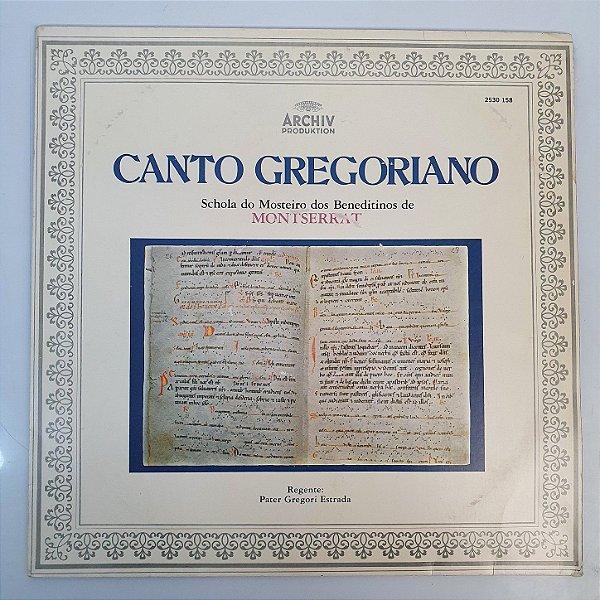Disco de Vinil - Canto Gregoriano - 1976