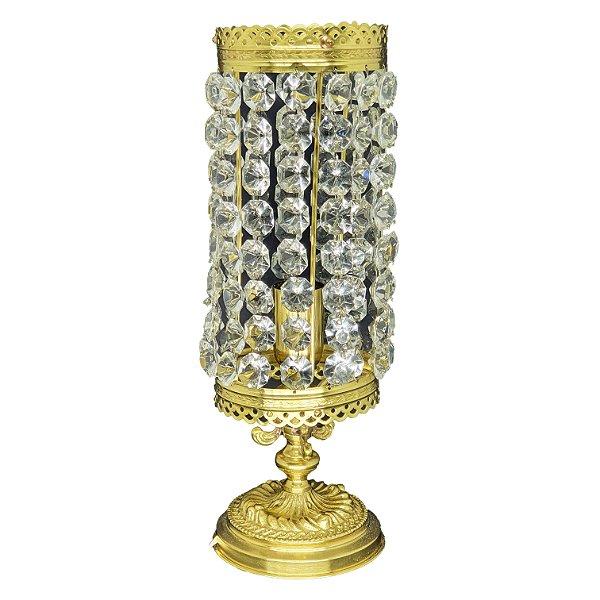 Luminária de Mesa Abajur em Latão Estilo Império
