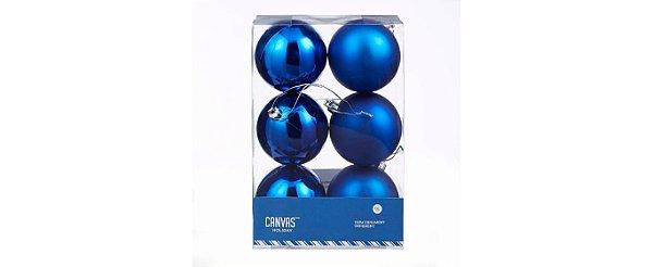 CANVAS Bola Azul Inquebrável Enfeite para Natal