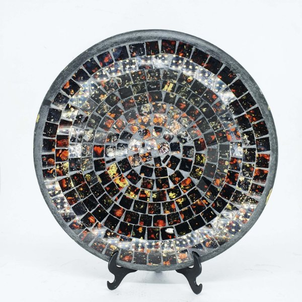 Prato Decorativo em Cerâmica em Mosaico
