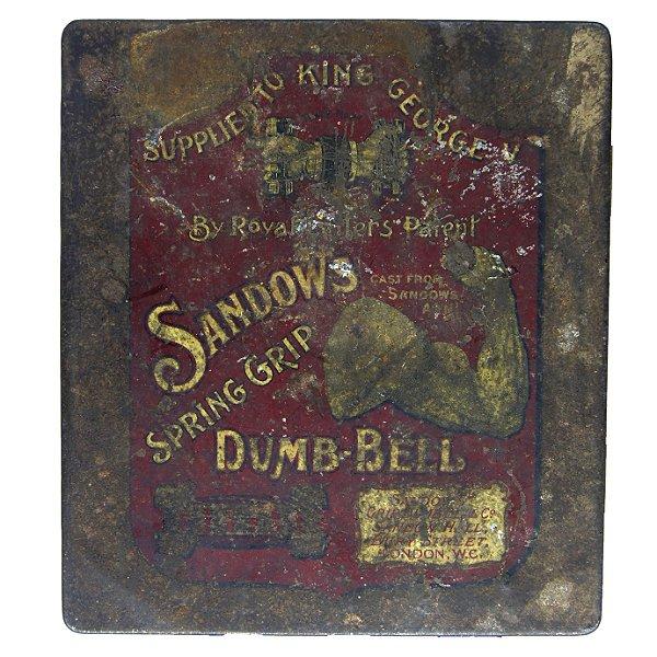 Par Halter de Ferro Spring Grip Dumb-bells 1910