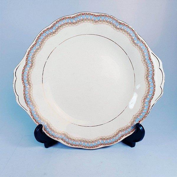 Prato Para Bolo Em Porcelana Grindley England Decorado