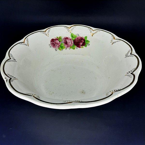 Bowl em Porcelana Campo Largo Filetado em Ouro
