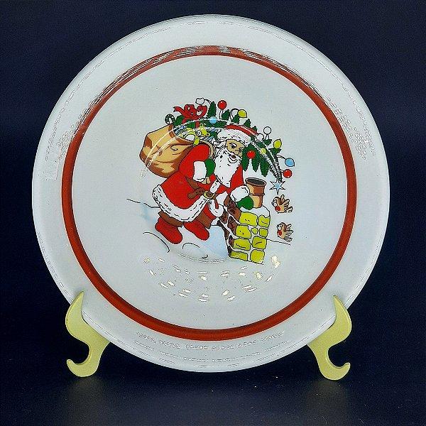Prato Decorativo Natalino em Porcelana Italiano