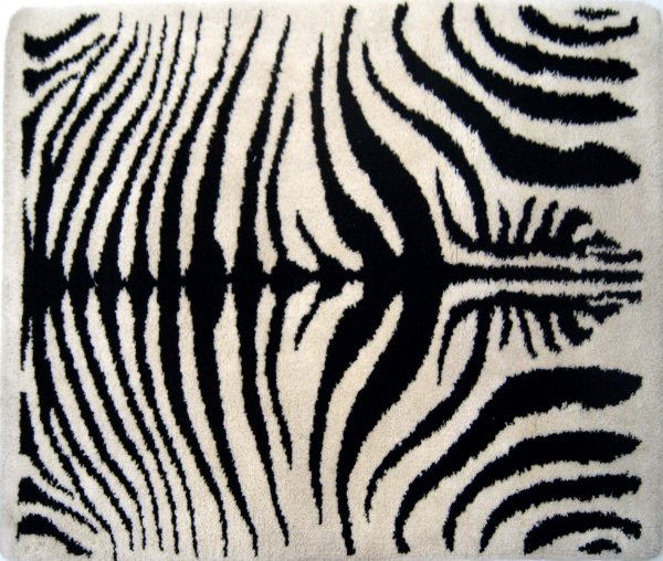 Tapete Industrial em Lã Estilo Zebra