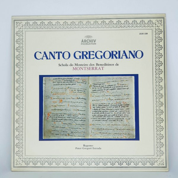 Disco de Vinil - A Tradição do Canto Gregoriado 1976