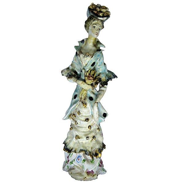 Escultura Italiana em Cerâmica Mulher