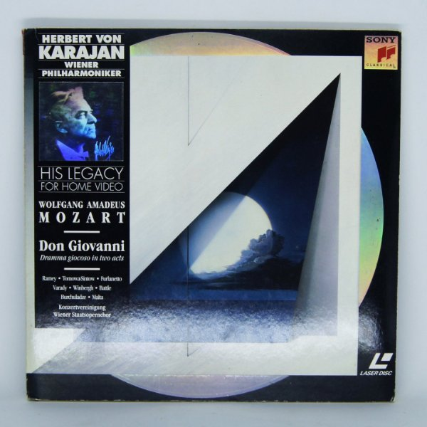 Laser Disc - Herbert von Karajan - Wolfgang Amadeus Mozart