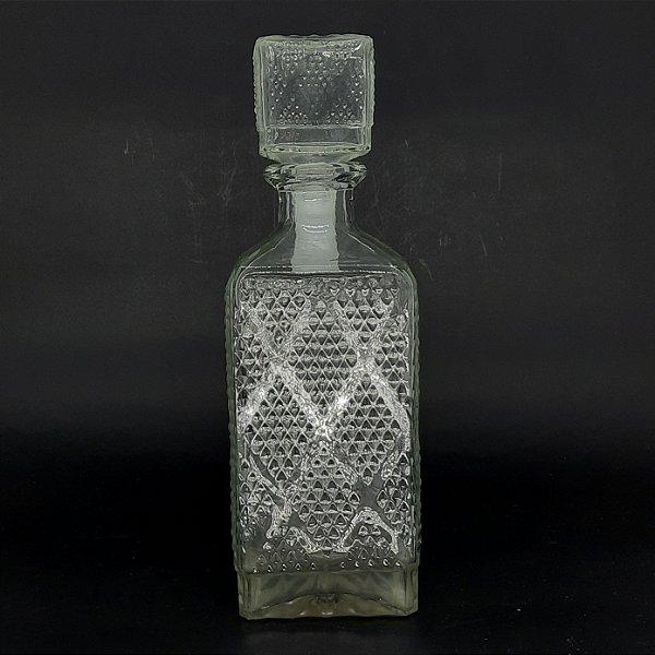 Garrafa para Whisky em Cristal com Bico de Jaca