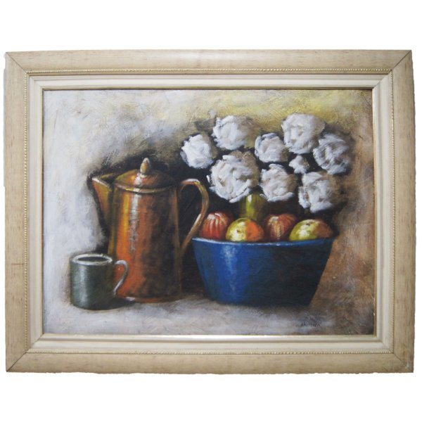 Quadro 'Chá & Flores' Artista Krambeck