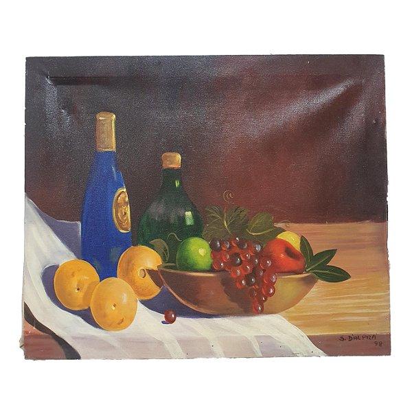 Quadro 'Vinhos & Frutas' Artista D'Alpra
