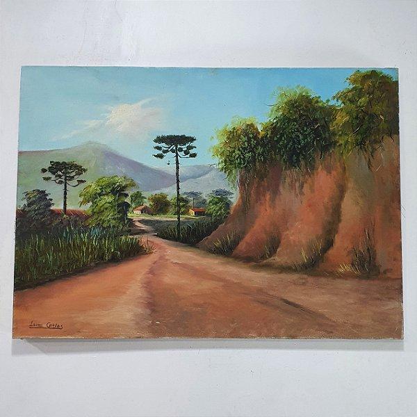 Quadro Estrada e Pinheiros Artista Luis Carlos