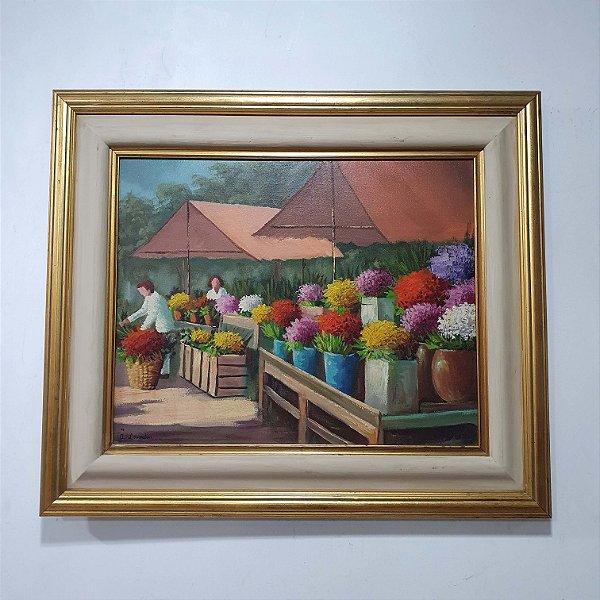 Quadro Feira de Flores - A.Lowenstein 1992