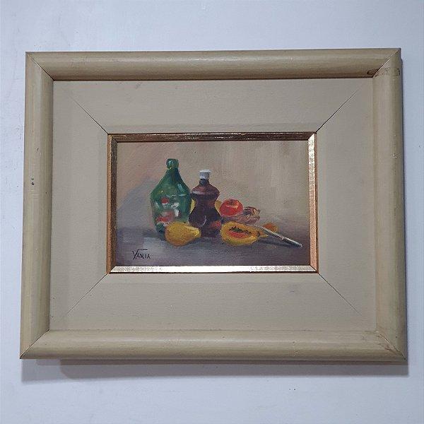 Quadro Vinho & Frutas Artista Vânia (37Ax46L)