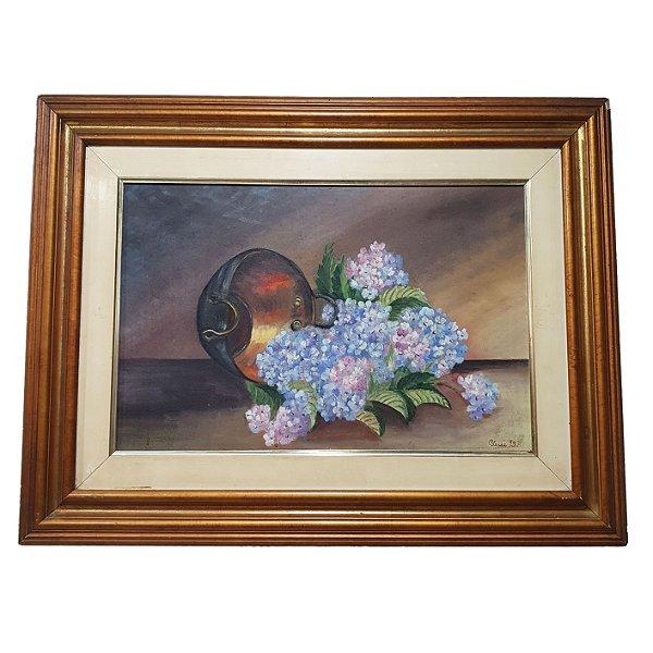 Quadro 'Vaso de Flores Caídas' Cleusa