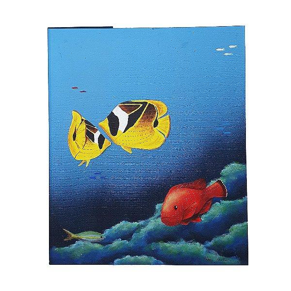 Quadro 'Peixes no Oceano' Krambeck