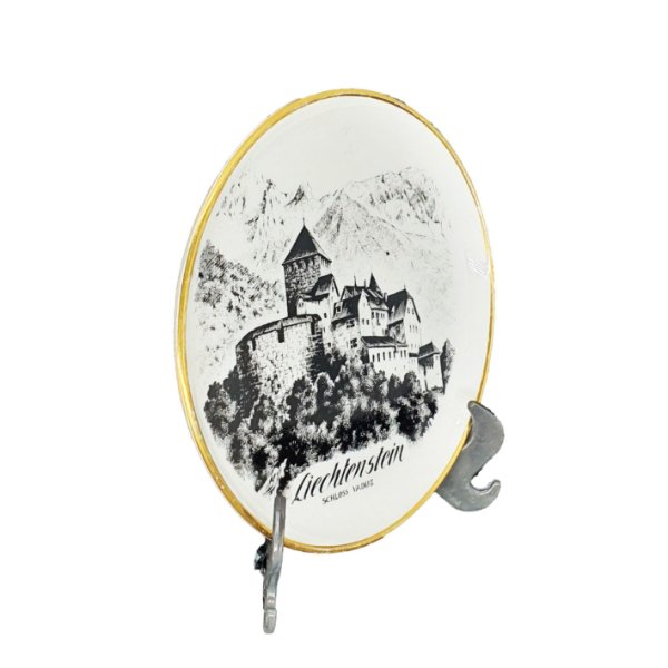 Aparador de Copo 'Liechtenstein Schloss Vaduz' Porcelana