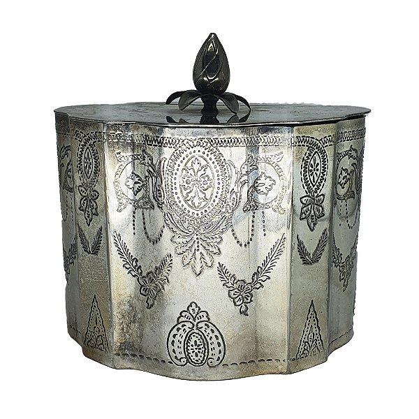 Caixinha de Chá Estilo Vitoriano em Banho de Prata