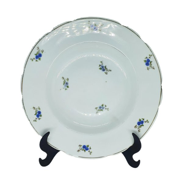 Prato P/ Sopa em Porcelana 'Real S.Paulo' Estampa Floral