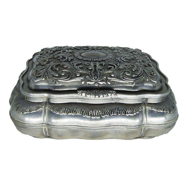 Caixinha de Jóias Banho de Prata