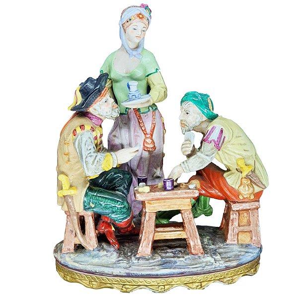 Escultura Porcelana Meissen Antiga Espanhola