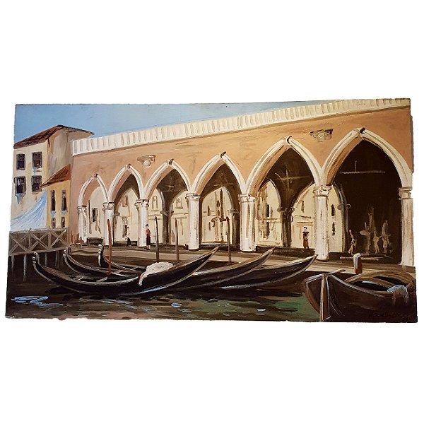 Quadro Veneza e suas Gôndolas