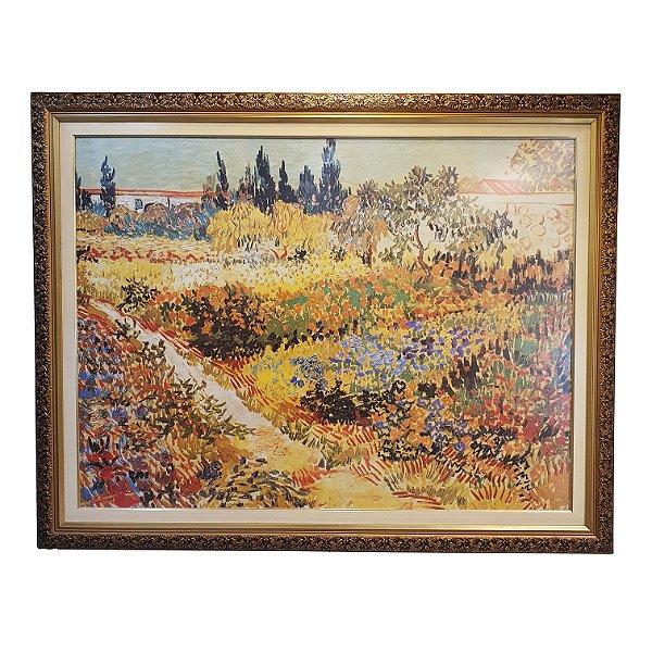 Quadro/Gravura 'Jardim' C/vidro Belga (Van Gogh)