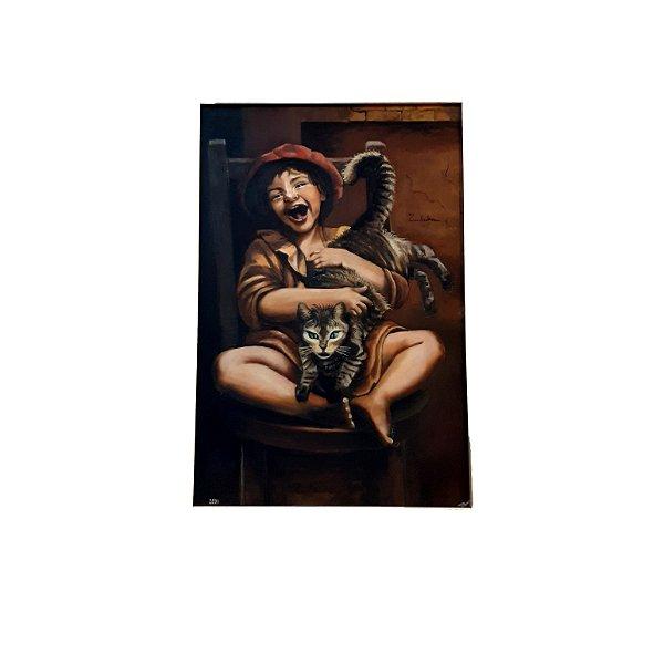 Quadro 'Gatinhos' Artista Zuleika Ano 2001
