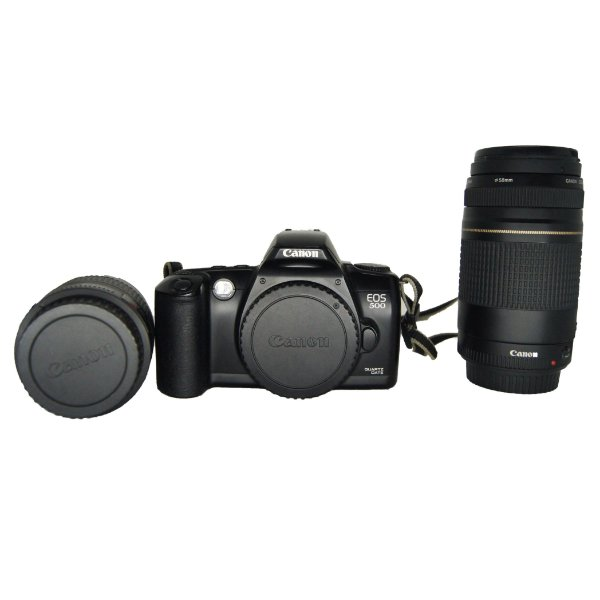 Câmera 'Canon EOS500 Quartz Date Analógica' + Manual